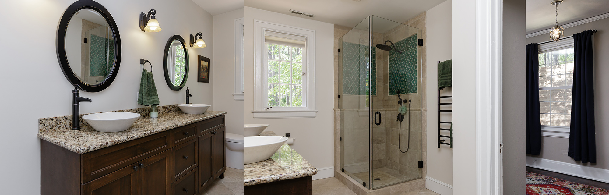 ... Beautiful Custom Bathroom Construction ...